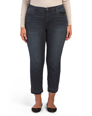 Plus High Rise Straight Jeans