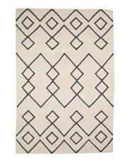 Made In India Flat Weave Wool Rug