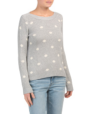 Long Sleeve Polka Dot Pullover Sweater