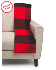 Made In Portugal Buffalo Plaid Whipstitch Throw