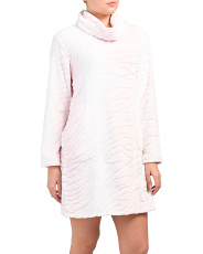 Chenille Long Sleeve Cowl Neck Nightshirt