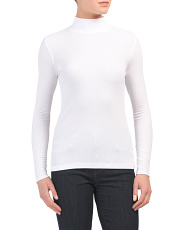 Variegated Ribbed Mock Neck Top