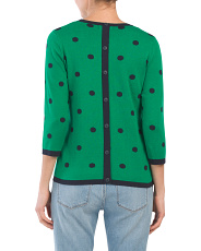 Polka Dot Sweater With Button Back