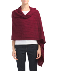 Cashmere Cable Travel Scarf