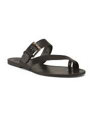 Asymmetrical Toe Ring Leather Sandals