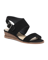 Suede Demi Wedge Sandals