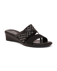Made In Italy Asymmetrical Jewel Sandals