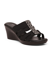 Made In Italy Jewel Wedge Sandals