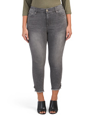 Plus High Waist Ankle Jeans