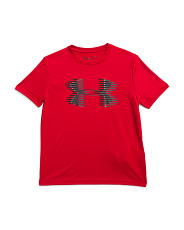 Boys Tech Big Logo Short Sleeve Tee