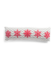 Made In India 10x30 Knit Snowflakes Pillow