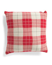 Made In India 20x20 Check Knit Pillow