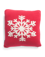 Made In India 20x20 Snowflake Pillow