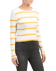 Juniors Australian Design Striped Knit Top