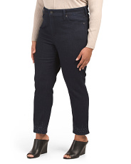 Plus Sheri Embroidered Crop Jeans