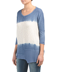 Ombre V Neck Tunic