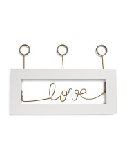 Love Wire Triple Clip Photo Display