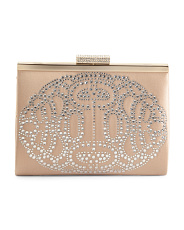 Satin Alice Clutch With Front Ornament