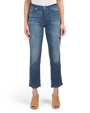 Edie High Waisted Cropped Straight Jeans