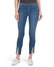 Seam Front Slit Ankle Denim Jeans
