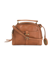 Leather Angelo Dome Satchel