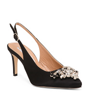Made In Italy Handmade Jeweled Pumps