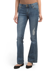 Petite Chrissy Five Pocket Flare Jeans