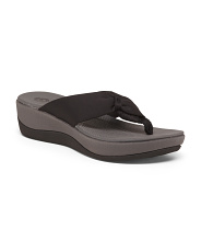 Comfort Wedge Thong Sandals