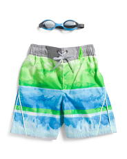 Little Boys Washed Ashore Swim Trunks