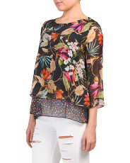 Made In Italy Flower Print Top