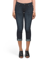 Amy Cropped Straight Roll Up Jeans