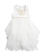 Big Girls Cascading Glitter Skirt Dress