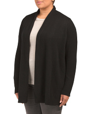 Plus Roll Neck Cashmere Cardigan