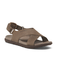Nubuck Adjustable Strap Leather Sandals