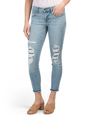 Made In Usa Diversion Destructed Low Rise Crop Skinny Jeans