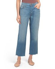 Made In Usa Ivy High Rise Crop Straight Jeans