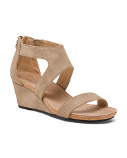Faux Suede Wedge Sandals