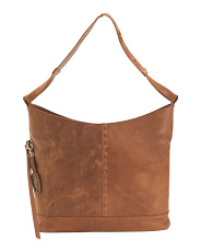 Distressed Leather Labelle Hobo
