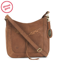 Distressed Mowry Leather Crossbody