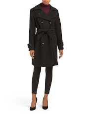 Wool Cashmere Blend Trench Coat