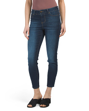 Juniors High Waist Basic Denim Jeans
