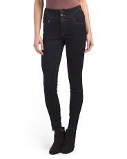 Juniors High Waist Western Jeans