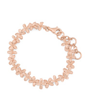 Made In Bali Rose Gold Plated Sterling Silver Floral Bracelet