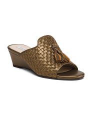 Woven Leather Wedges