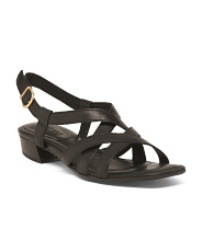 Comfort Strappy Flat Leather Sandals