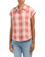Plaid Short Sleeve Top