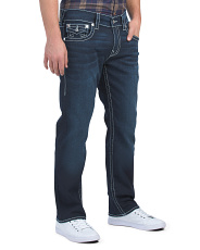 Straight Flap Natural Big T Jeans
