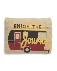 Made In India 14x18 Enjoy The Journey Pillow