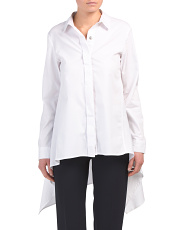 Collared High Low Button Down Shirt