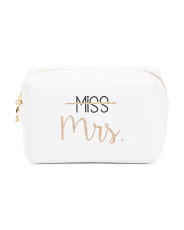 Miss-to-mrs. Cosmetic Loaf Bag